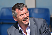 Southend United Manager, Phil Brown  before the Sky Bet League 1 match between Bury and Southend United at the JD Stadium, Bury, England on 8 May 2016. Photo by Mark Pollitt.