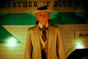 Bill Monroe wax statue at The Country Music Wax Museum and the Sidewalk of Fame in Nashville, TN (1999)