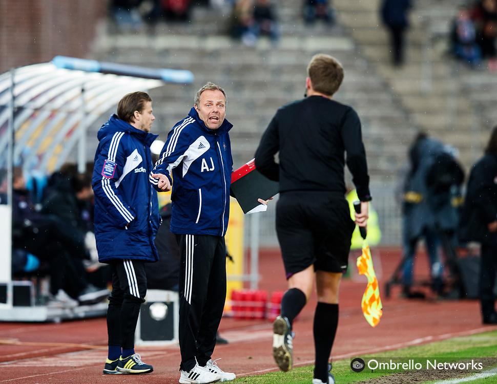 STOCKHOLM 2013-04-27<br /> ALLSVENSKAN FOTBOLL DJURG&Aring;RDEN VS SYRIANSKA FC<br /> ANDERS JOHANSSON OCH MARTIN SUNDGREN