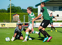 03/07/14 PRE-SEASON FRIENDLY<br /> FK KRASNODAR v CELTIC<br /> HOFMANINGER STADION - BAD WIMSBACH<br /> Celtic star Stefan Johanssen (centre) rounds the keeper to score his side's second