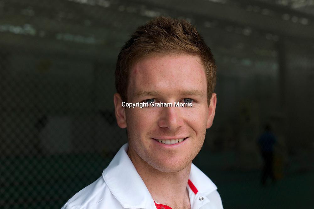 England cricketer Eoin Morgan. Photograph: Graham Morris/cricketpix.com (Tel: +44 (0)20 8969 4192; Email: sales@cricketpix.com) Ref. No. 11144k44  23/05/11