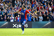 Crystal palace midfielder Luka Milivojevic celebrates his goal (score 3-0) during the Premier League match between Crystal Palace and Hull City at Selhurst Park, London, England on 14 May 2017. Photo by Andy Walter.