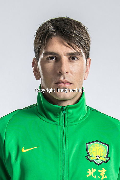 **EXCLUSIVE**Portrait of Spanish soccer player Jonathan Soriano of Beijing Sinobo Guoan F.C. for the 2018 Chinese Football Association Super League, in Shanghai, China, 22 February 2018.