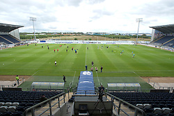 The Falkirk Stadium is a football stadium in Falkirk in central Scotland, which plays host to the home matches of Falkirk F.C. The club moved to the stadium in 2004 from their former home, Brockville Park..Falkirk 2 v 1 Partick Thistle, 13th August 2011..© pic : Michael Schofield.