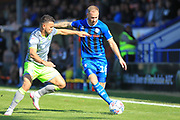 Matty Done looks to cross the ball during the EFL Sky Bet League 1 match between Rochdale and Walsall at Spotland, Rochdale, England on 25 August 2018.