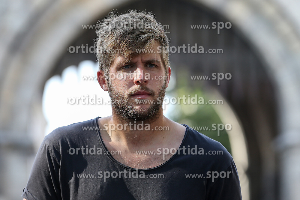29.06.2015, Severinstorbogen, Koeln, GER, Marco Koenigs im Portrait, im Bild Marco Koenigs (1. FC Koeln) bei einem Interview und Fototermin // Football Player Marco Koenigs from the 1. FC Cologne during a Interview and Photoshooting at the Severinstorbogen in Koeln, Germany on 2015/06/29. EXPA Pictures &copy; 2016, PhotoCredit: EXPA/ Eibner-Pressefoto/ Horn<br /> <br /> *****ATTENTION - OUT of GER*****