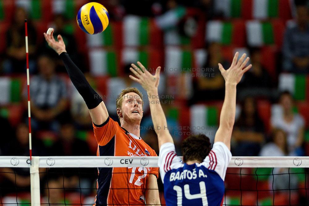 09-10-2015 BUL: Volleyball European Championship Tsjechie - Nederland, Sofia<br /> Nederland wint de belangrijke openingswedstrijd tegen Tsjechie met 3-1 / Kay van Dijk #12