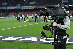 March 7, 2019 - Naples, Naples, Italy - Cameraman during the UEFA Europa League match between SSC Napoli and RB Salzburg at Stadio San Paolo Naples Italy on 7 March 2019. (Credit Image: © Franco Romano/NurPhoto via ZUMA Press)