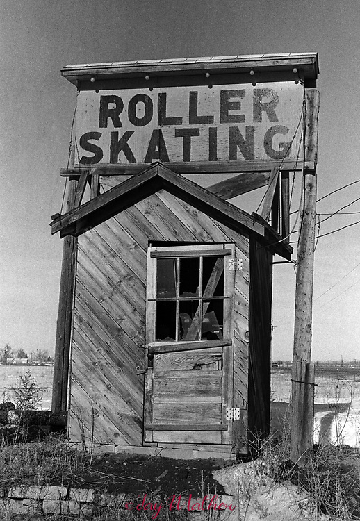 """Dinky Rink."" A quizzical scene in Westminster, CO. 1973."