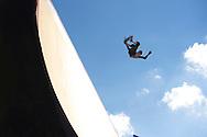 Jono Schwan during Skate Big Air Practice at 2014 X Games Austin in Austin, TX.    ©Brett Wilhelm/ESPN