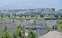 Rooftops of a housing development in the Issaquah Highlands, WA