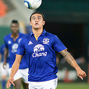 Everton Midfielder Tim Cahill #17 has his eyes on the eye as Cahill heads down field during MLS International friendly match between Everton FC of England and DC United...Everton FC Defeated DC United 3-1 Saturday, July 23, 2011, at  RFK Stadium in Washington DC.