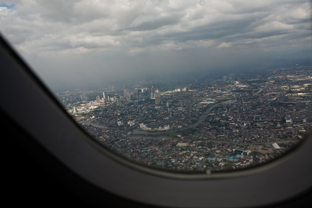 Aerial view of Manila. The capital of the Philippines is a city of contrasts.