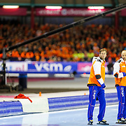 NLD/Heerenveen/20130112 - ISU Europees Kampioenschap Allround schaatsen 2013 dag 2, 3000 meter dames, Gerard Kempers