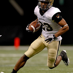 October 9, 2010; New Orleans, LA, USA; Army Black Knights running back Malcolm Brown (23) runs with the ball against the Tulane Green Wave during the first half at the Louisiana Superdome.  Mandatory Credit: Derick E. Hingle