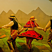 Lively folk dancing in Cuzco, Peru.