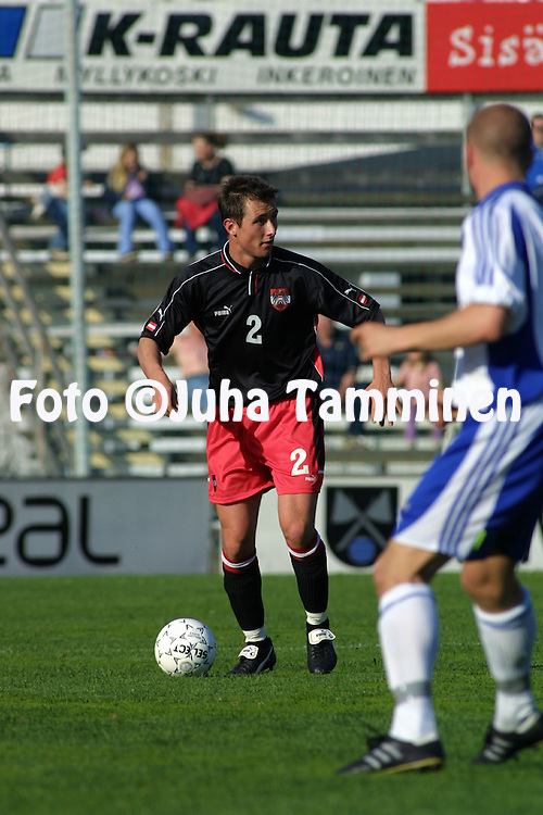 15.05.2002, Anjalankoski, Finland..Under-21 Friendly International Match Finland v Austria..Michael Winsauer - Austria.©Juha Tamminen