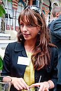 EMILY KATE OWEN, Archant Summer party. Kensington Roof Gardens. London. 7 July 2010. -DO NOT ARCHIVE-© Copyright Photograph by Dafydd Jones. 248 Clapham Rd. London SW9 0PZ. Tel 0207 820 0771. www.dafjones.com.