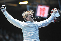 05.08.2012, ExCeL Exhibition Centre, London, GBR, Olympia 2012, Fechten, im Bild JOPPICH Peter (GER), Mens Team Foil // during fencing, at the 2012 Summer Olympics at ExCeL Exhibition Centre, London, United Kingdom on 2012/08/05. EXPA Pictures © 2012, PhotoCredit: EXPA/ Insidefoto/ Giovanni Minozzi *****ATTENTION - for AUT, SLO, CRO, SRB, SUI and SWE only *****