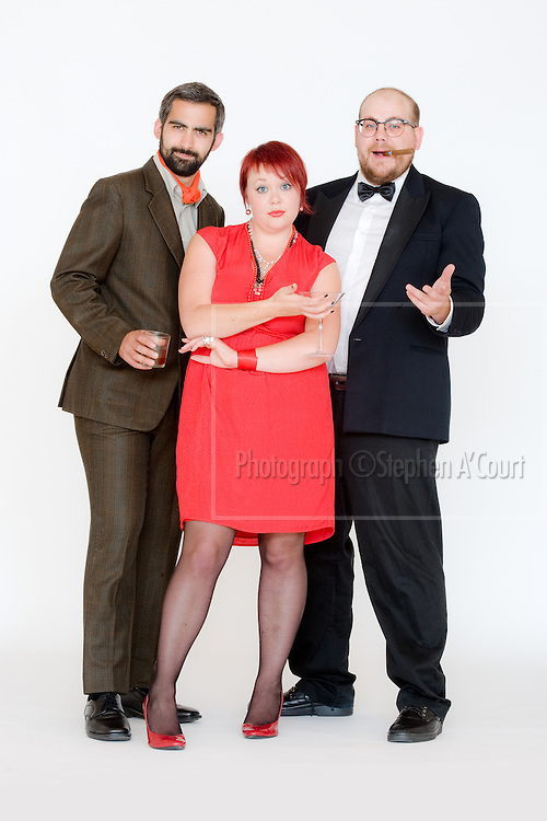 Advertising photography for comedians Jerome Chandrahasen, Jim Stanton and TJ McDonald.