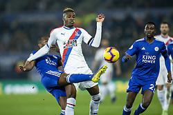 February 23, 2019 - Leicester, England, United Kingdom - Wilfried Zaha of Crystal Palace  is tackled by Ricardo Pereira of Leicester City during the Premier League match between Leicester City and Crystal Palace at the King Power Stadium, Leicester on Saturday 23rd February 2019. (Credit Image: © Mi News/NurPhoto via ZUMA Press)