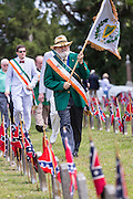 Members of the Hibernian Society march during a ceremony marking Confederate Memorial Day at Magnolia Cemetery April 10, 2014 in Charleston, SC. Confederate Memorial Day honors the approximately 258,000 Confederate soldiers that died in the American Civil War.