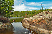 Rocky shoreline on Crow (Kakagi) Lake in Unorganized Kenora District and the township of Sioux Narrows-Nestor Falls<br />North of Nestor Falls<br />Ontario<br />Canada