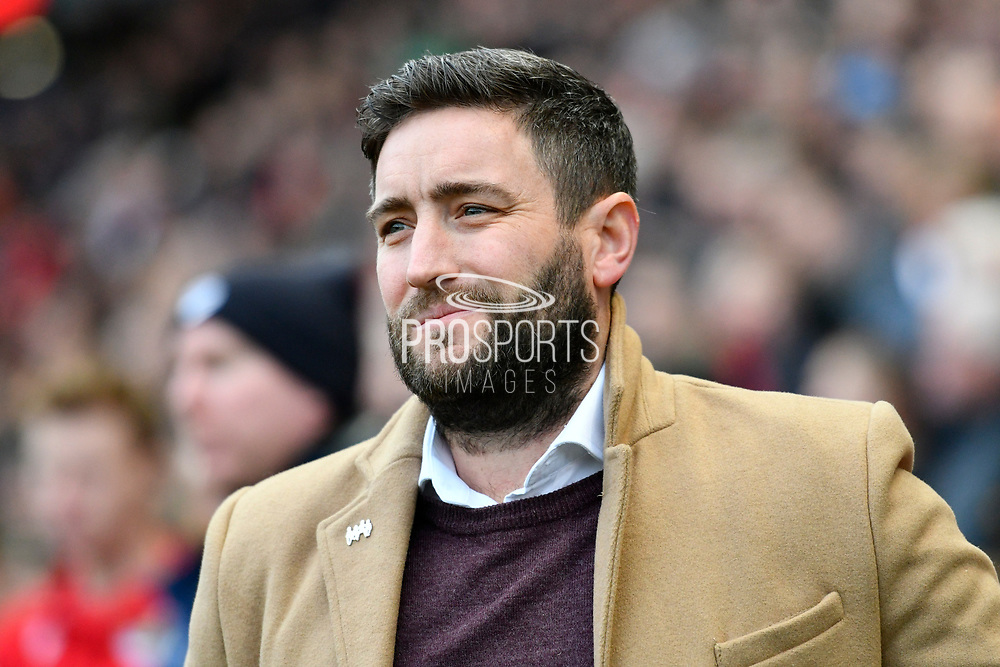 Bristol City manager Lee Johnson during the EFL Sky Bet Championship match between Bristol City and Nottingham Forest at Ashton Gate, Bristol, England on 16 December 2017. Photo by Graham Hunt.