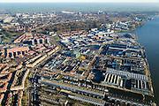 Nederland, Noord-Holland, Amsterdam, 11-12-2013;  Overzicht Amsterdam-Noord, Meeuwenlaan en omgeving, Vogelbuurt. Motorkade, IJ-oever.<br /> Overview North Amsterdam.<br /> luchtfoto (toeslag op standaard tarieven);<br /> aerial photo (additional fee required);<br /> copyright foto/photo Siebe Swart.