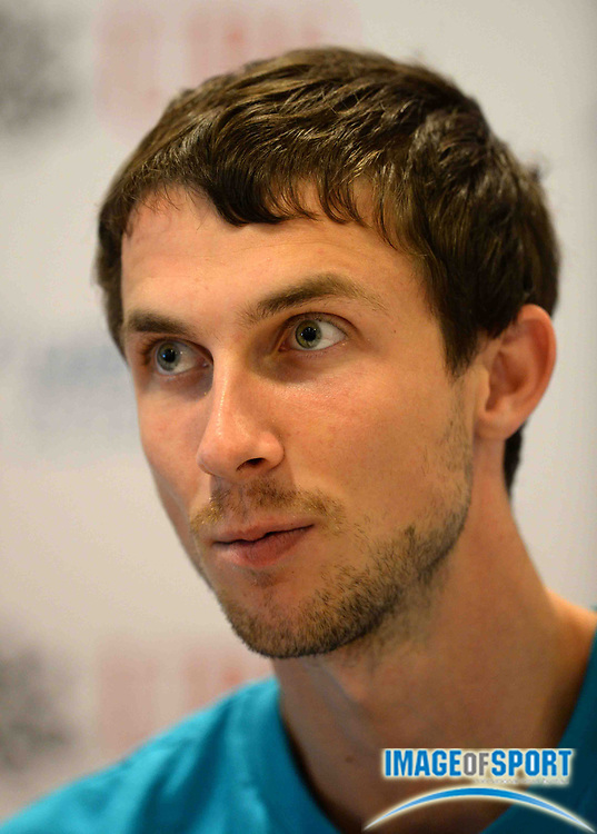Aug 28, 2013; Zurich, SWITZERLAND; Bohdan Bondarenko (UKR) at press conference in advance of the 2013 Weltklasse Zürich. Photo by Jiro Mochizuki
