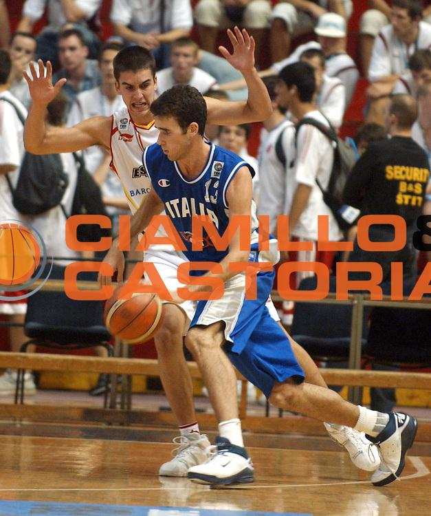 DESCRIZIONE : Belgrado Campionato Europeo Maschile Under 18 <br /> GIOCATORE : Datome <br /> SQUADRA : Italia Under 18 <br /> EVENTO : Campionato Europeo Maschile Under 18 <br /> GARA : Italia Spagna <br /> DATA : 24/07/2005 <br /> CATEGORIA : <br /> SPORT : Pallacanestro <br /> AUTORE : Agenzia Ciamillo-Castoria