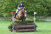 Sarah Challender on Diamond Rockstar during the International Horse Trials at Chatsworth, Bakewell, United Kingdom on 11 May 2018. Picture by George Franks.