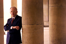 Professor Alan Baker, a leading mathematician on the subject of the goldbarch conjective, Trinity College, Cambridge, March 7, 2000. Photo by Andrew Parsons / i-images..