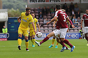 AFC Wimbledon midfielder Chris Whelpdale (11) in action during the EFL Sky Bet League 1 match between Northampton Town and AFC Wimbledon at Sixfields Stadium, Northampton, England on 20 August 2016. Photo by Stuart Butcher.