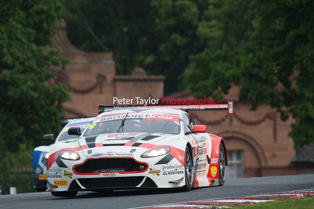 Phil Dryburgh (GBR) / Ross Wylie (GBR)  #8 Motorbase Performance  Aston Martin V12 Vantage GT3  Aston Martin 6.0L V12 British GT Championship at Oulton Park, Little Budworth, Cheshire, United Kingdom. May 28 2016. World Copyright Peter Taylor/PSP.