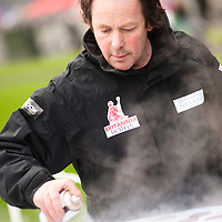 London, UK - 11 January 2012: Ice sculpting festival 2013 is underway at Canary Warf.