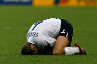 Photo: Glyn Thomas.<br />England v Ecuador. 2nd Round, FIFA World Cup 2006. 25/06/2006.<br /> England's Steven Gerrard struggles.