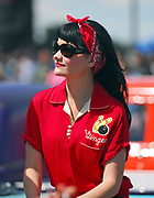 A portrait of a young rockabilly in red, Viva Las Vegas Festival, Las Vegas, USA 2006.