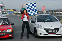 Spanish of sports presenter Lara Alvarez, current girlfriend of the Formula 1 driver Fernando Alonso, during the presentation of new Peugeot 208 GTI at Jarama Circuit in Madrid, Spain. January 20 2015. (ALTER PHOTOS/Carlos Dafonte)