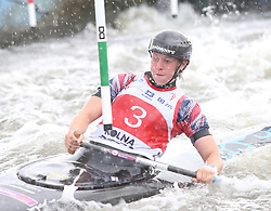 July 1, 2018 - Krakow, Poland - 2018 ICF Canoe Slalom World Cup 2 in Krakow. Day 2. On the picture: KIMBERLEY WOODS (Credit Image: © Damian Klamka via ZUMA Wire)