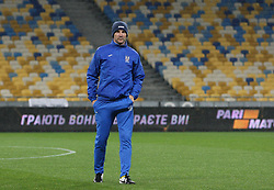October 8, 2017 - Kiev, Ukraine - Ukraine's coach Andriy Shevchenko during the training of the Ukrainian team before the World Cup Group I qualifying soccer match between Ukraine and Croatia at the Olympic Stadium in Kiev. Ukraine, Sunday, October 8, 2017  (Credit Image: © Danil Shamkin/NurPhoto via ZUMA Press)