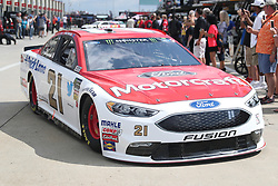 September 29, 2018 - Charlotte, NC, U.S. - CHARLOTTE, NC - SEPTEMBER 29: #21: Paul Menard, Wood Brothers Racing, Ford Fusion Motorcraft / Quick Lane Tire & Auto Center leaving the garages during the Monster Energy NASCAR Cup Series Playoff Race Bank of America ROVAL 400 on September 29, 2018, at Charlotte Motor Speedway in Concord, NC. (Photo by Jaylynn Nash/Icon Sportswire) (Credit Image: © Jaylynn Nash/Icon SMI via ZUMA Press)