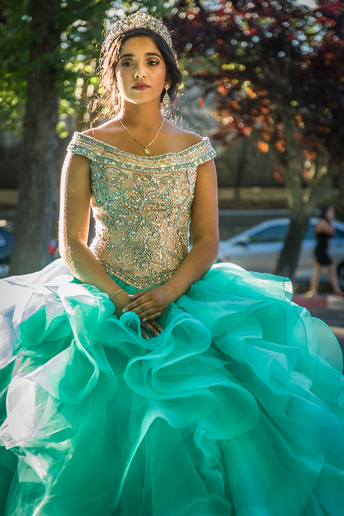 Princess Victoria Montanez takes a moment away from her family and friends during her June 10 celebration in Calistoga