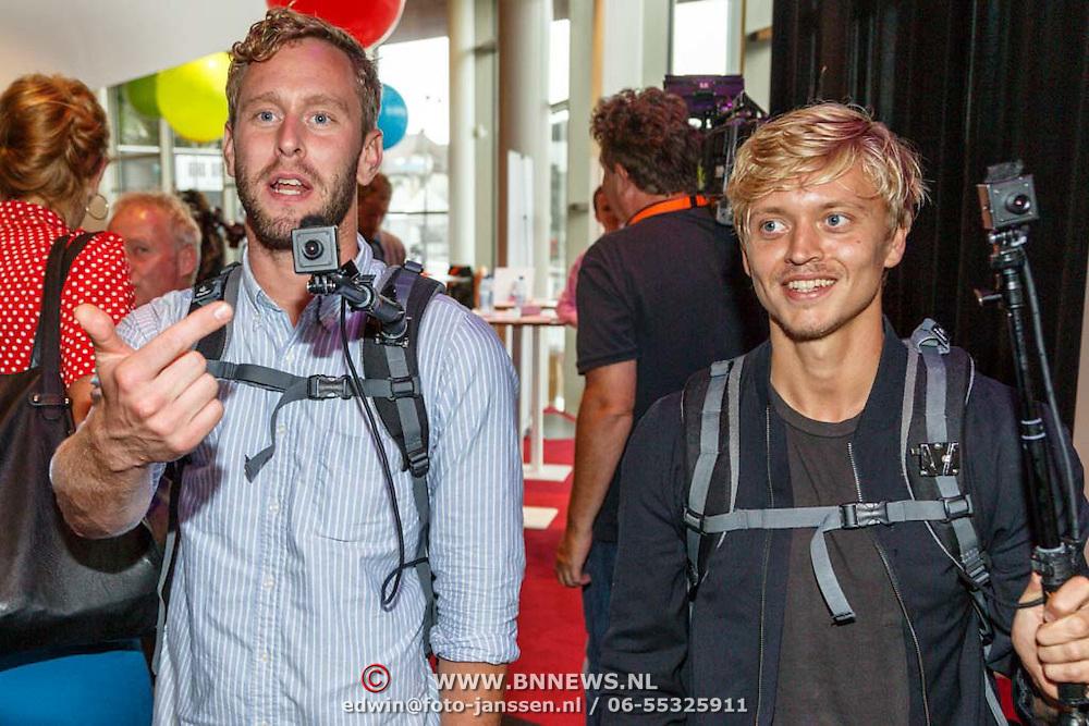 NLD/Hilversum20150825 - Najaarspresentatie NPO 2015, Tim den Besten en Nicolaas Veul streamen 2 weken voor het internet
