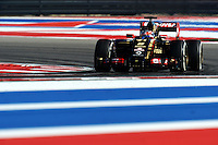 Romain Grosjean (FRA) Lotus F1 E22.<br /> United States Grand Prix, Friday 31st October 2014. Circuit of the Americas, Austin, Texas, USA.