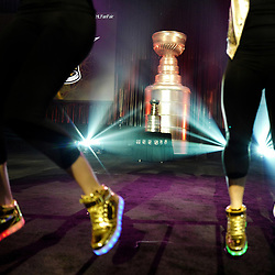 NHL dancers perform in front of the Stanley Cup during the NHL Fan Fast at the Los Angeles Convention Center on Friday, Jan. 27, 2017 in Los Angeles.