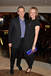 ALEXANDER ARMSTRONG and his wife HANNAH ARMSTRONG at the Costa Book Awards 2013 held at Quaglino's, 16 Bury Street, London on 28th January 2014.