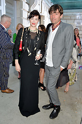 JASMINE GUINNESS and ALEX JAMES at the annual Royal Academy of Art Summer Party held at Burlington House, Piccadilly, London on 4th June 2014.