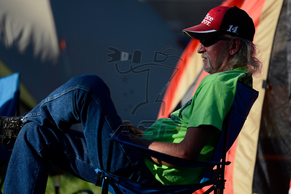 Brooklyn, MI  - Aug 19, 2012: Nascar Fans enjoy camping before the Pure Michigan 400 at Michigan International Speedway in Brooklyn, MI.