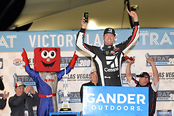 March 1, 2019 - Las Vegas, NV, U.S. - LAS VEGAS, NV - MARCH 01: Kyle Busch (51) Kyle Busch Motorsports (KBM) Toyota Tundra celebrates in victory lane after winning the NASCAR Gander Outdoors Truck Series The Strat 200 on March 1, 2019, at Las Vegas Motor Speedway in Las Vegas, Nevada. (Photo by Michael Allio/Icon Sportswire) (Credit Image: © Michael Allio/Icon SMI via ZUMA Press)